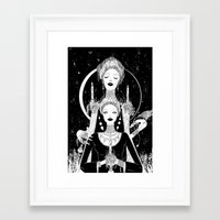 religion Framed Art Prints featuring Religion by Birdie Houdini