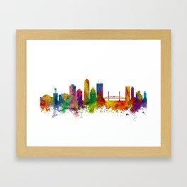 Jacksonville Florida Skyline Framed Art Print