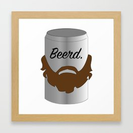 Beerd. Framed Art Print