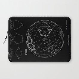 Buckminster Fuller 1961 Geodesic Structures Patent - White on Black Laptop Sleeve