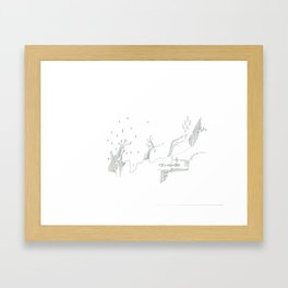 paper_7 Framed Art Print