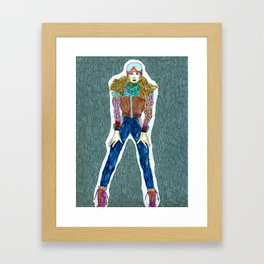Fall winter Framed Art Print