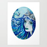 Mermaid Ocean Goddess Art Print