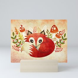 Lazy Foxy Mini Art Print