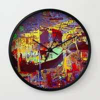 miami Wall Clocks featuring miami by donphil
