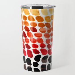 Colorful Primitive Pattern Watercolor Scales Abstract Desert Orange Yellow Ochre Travel Mug