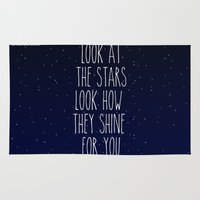 coldplay Area & Throw Rugs featuring Look How They Shine For You by Adel