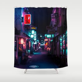 Late Night in Shinjuku's Golden Gai Shower Curtain