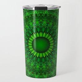 Green Garden Mandala Travel Mug