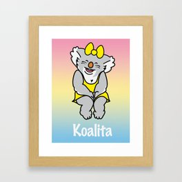 Smiling Koalita Framed Art Print