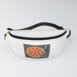Pizza Record Player Fanny Pack