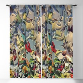 Tangled-Floral Fantasy Collage  Blackout Curtain
