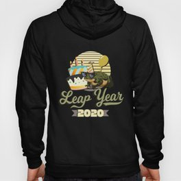 Leap Year 2020 - Frog Graphic - February 29th Birthday Hoody