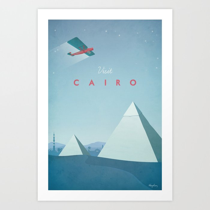 Cairo - Vintage Travel Poster Art Print