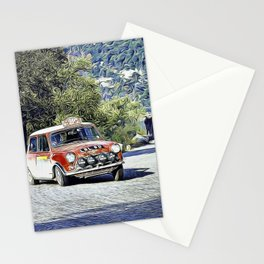 Mini at the Monte Carlo Rallye Stationery Cards