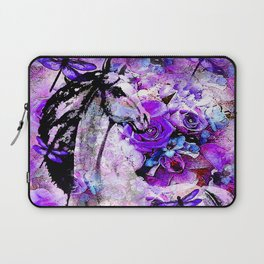 HORSE ROSES DRAGONFLY IMPRESSIONS Laptop Sleeve