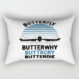 Swimming - Butterfly Butterwhy Rectangular Pillow