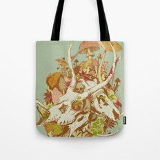 skulls in spring Tote Bag