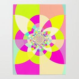 Bright & Pastel Kaleidoscope Poster