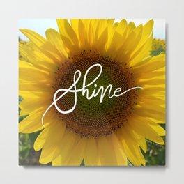 Shine Sunflower Metal Print