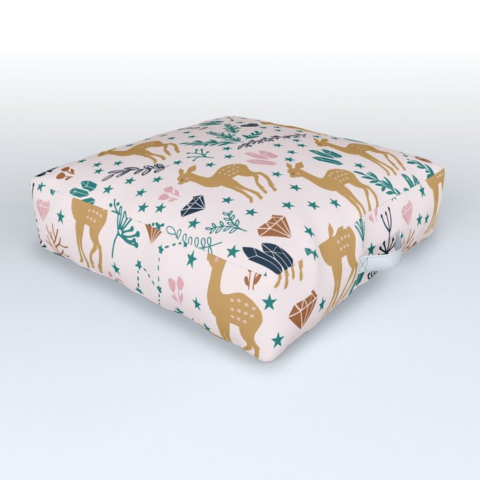 Cute Fawn Outdoor Floor Cushion