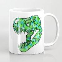 t rex Mugs featuring t-rex by tama-durden
