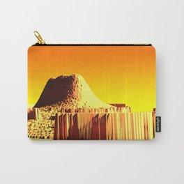 Golden mountain monument landscape nature illustration Carry-All Pouch