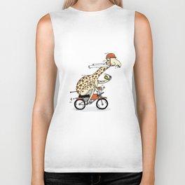 Giraffe on a motorbike eating a cheese sandwich... Biker Tank