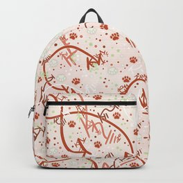 Peppermint Candy Paw Prints Backpack