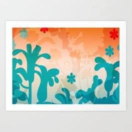 Breezy Bracken Art Print