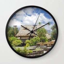 Hawaiian Style Lāhainā Maui Hawaii Wall Clock