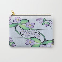 Painterly Violets Carry-All Pouch