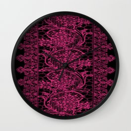 Pink Yarrow Lace Wall Clock