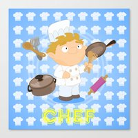 chef Canvas Prints featuring Chef by Alapapaju