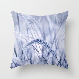 Grass blue 0109 Throw Pillow