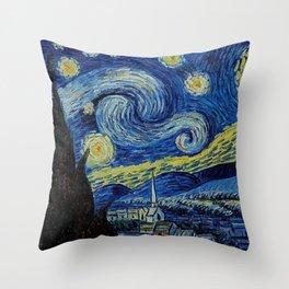 Van Gogh : Stary Night Throw Pillow