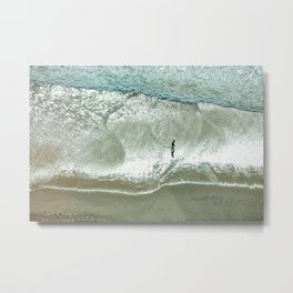 Beach walks Metal Print