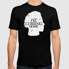 Halloween is Coming MEDIUM Black Mens Fitted Tee