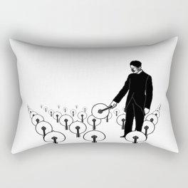 Tesla's Lights Black & White Rectangular Pillow