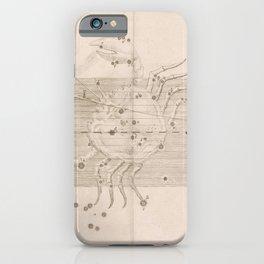 Johann Bayer - Uranometria / Measuring the Heavens (1661) - 23 Cancer iPhone Case