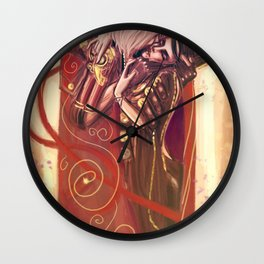 The Devils Kiss Wall Clock