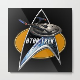 StarTrek Enterprise NX01  Command Signia Chest 2 Metal Print