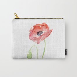 Red Poppy Flower Flowers Carry-All Pouch