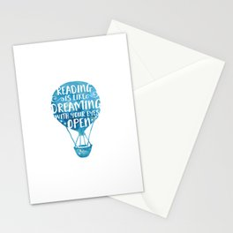 Reading is like Dreaming with Your Eyes Open Stationery Cards