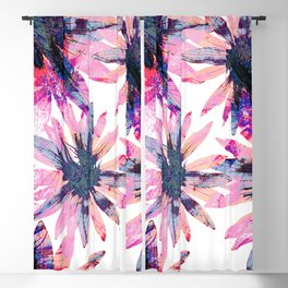 Floral Pattern in Fresh Bright Colours.Cute Flower Print. Blackout Curtain