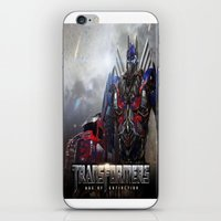 transformers iPhone & iPod Skins featuring transformers  , transformers  games, transformers  blanket, transformers  duvet cover by ira gora