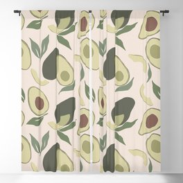 Modern Abstract Avocado Pattern Blackout Curtain
