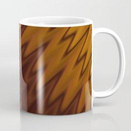 Yellow/Brown Diagonal Pattern Coffee Mug