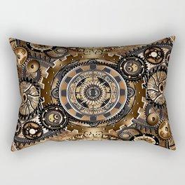 Brass Gear Wall Rectangular Pillow