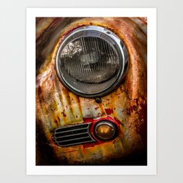 Rusty old Porsche Art Print